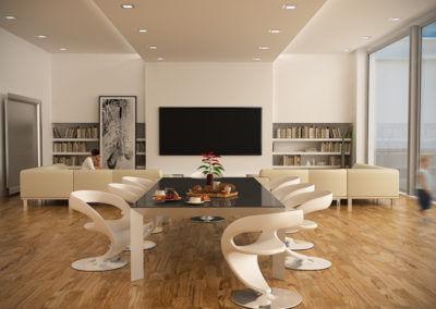 Olivenholz Parkett Modernes Wohnzimmer